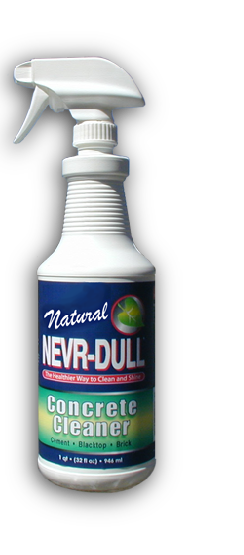 natural nevr dull concrete cleaner